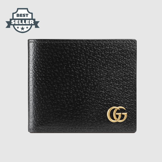 구찌 GG 마몬트 가죽 반지갑 Gucci GG Marmont leather bi-fold wallet (Style ‎428726 DJ20T 1000)