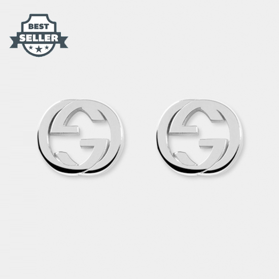 구찌 인터로킹 G 실버 귀걸이 Gucci Silver interlocking G earring