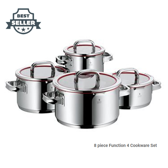 WMF 펑션4 쿡웨어 8피스 스테인레스 냄비 세트 (Made in Germany) Function 4 8-Piece Cookware Set