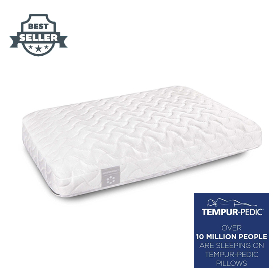 템퍼페딕 템퍼 클라우드 엑스트라 소프트 베개 Tempur-Pedic TEMPUR Cloud Pillow, Extra Soft Support, Adaptable Comfort Washable Cover, Assembled in The USA, Standard, White
