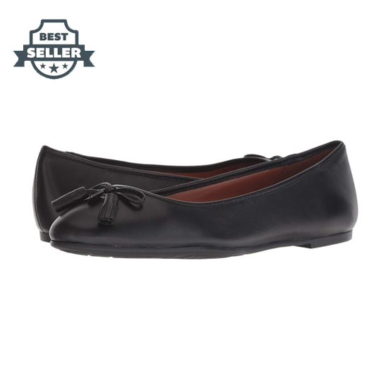 코치 Bea 플랫슈즈 블랙 COACH Bea Leather Flat, Black