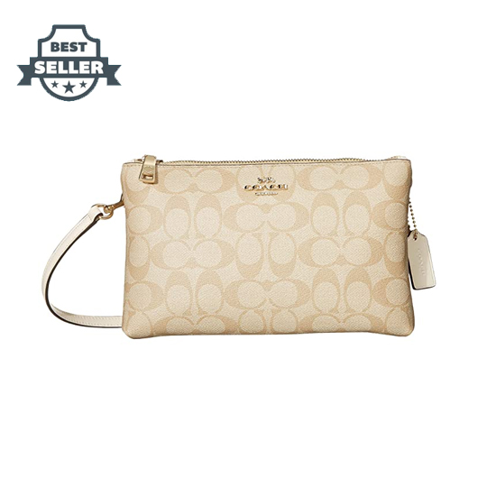 코치 시그니처 라일라 크로스백 - 초크 COACH Signature Lyla Crossbody,IM/Light Khaki/Chalk