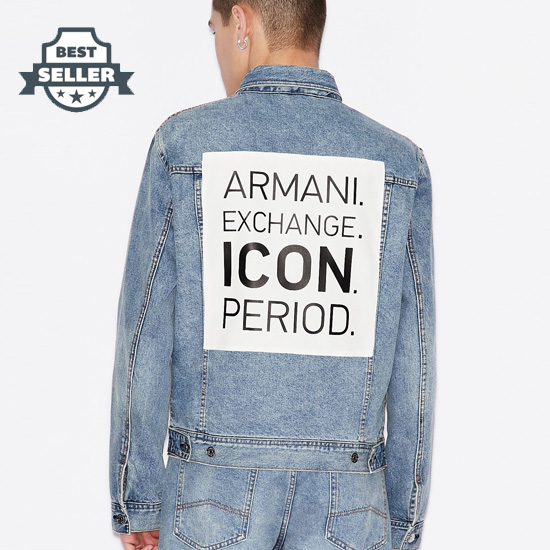 아르마니 익스체인지 청자켓 Armani Exchange ICON PERIOD DENIM JACKET, Denim Jacket for Men ,Blue