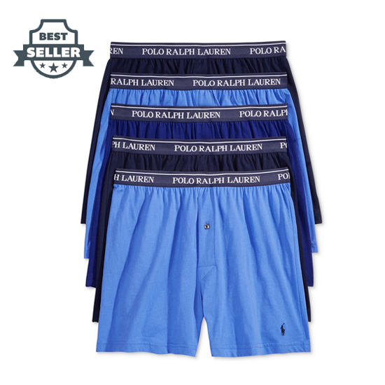 폴로 랄프로렌 속옷 하의 5팩 Polo Ralph Lauren Mens 5-Pk Classic Knit Boxer Briefs