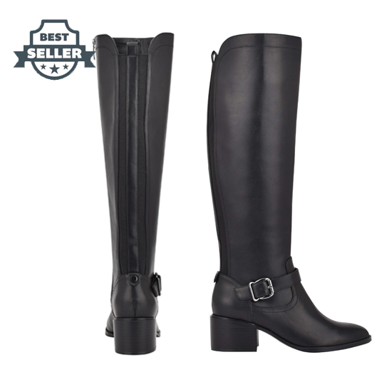 나인 웨스트 롱 부츠 NINE WEST Caeleb Boots,Black