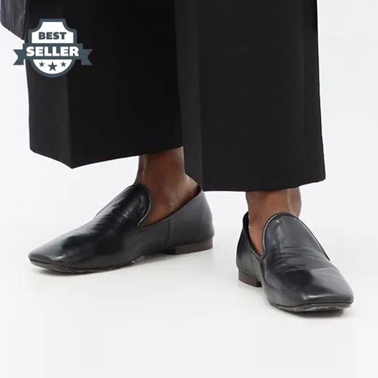 [21SS NEW!] 르메르 스퀘어토 로퍼 - 블랙 (강민경, 차정원 착용) Lemaire Square-toe leather loafers