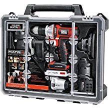 블랙앤데커 전동드릴 6툴 콤보 키트, 케이스 Black & Decker BDCDMT1206KITC Matrix 6 Tool Combo Kit with Case