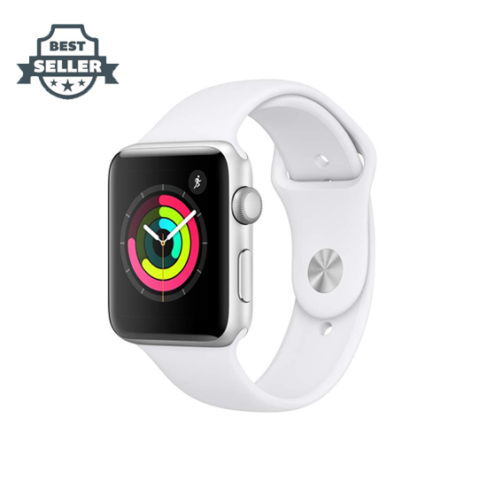 애플 애플워치 시리즈 3 38mm, 42mm - 화이트, 블랙 Apple Watch Series 3 (GPS, 42mm) - Silver Aluminium Case with White Sport Band