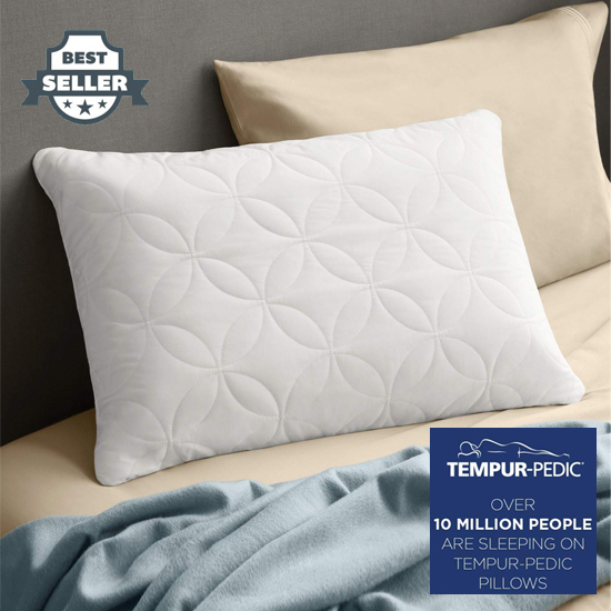 템퍼페딕 템퍼 클라우스 소프트 베개 퀸사이즈, TEMPUR-PEDIC Tempur-Pedic TEMPUR-Cloud Soft & Conforming Queen Size Pillow, Soft Support Washable Cover, Assembled in the USA