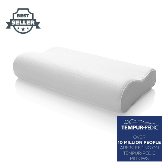 템퍼페딕 템퍼 에르고 목베개 스몰, 미디움, 라지 TEMPUR-PEDIC Tempur-Pedic TEMPUR-Ergo Neck Pillow, Firm Support, Adaptable Comfort & Relief Washable Cover, Assembled in the USA