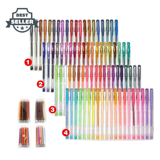 스마트 컬러 아트 160 젤펜 세트 (80색 + 80색 리필 구성), 컬러링북 펜 Smart Color Art 160 Colors Gel Pens Set 80 Gel Pen with 80 Refills for Adult Coloring Books Drawing Painting Writing Doodling