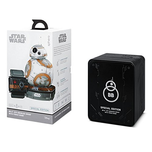 스피로 스타워즈 BB-8 스페셜 에디션 with 포스 밴드 Sphero Battle-Worn Bb-8 Droid with Force Band & Collector's Edition Black Tin by Star Wars
