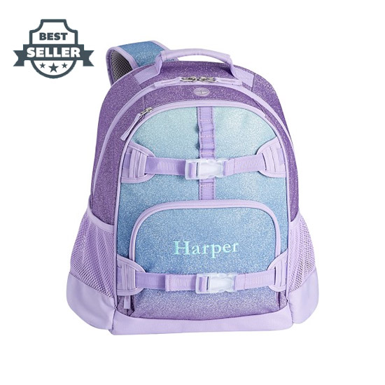 포터리반 가방 초등 백팩 Potterybarn Lavender & Aqua Ombre Sparkle Glitter Kids Backpacks
