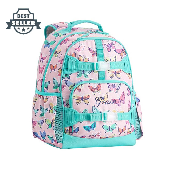 포터리반 가방 초등 백팩 Potterybarn Mackenzie Pink Rainbow Butterflies Backpacks