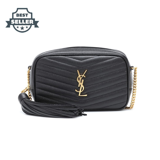 생 로랑 루백 미니 - 블랙 Saint Laurent Lou Mini leather crossbody bag